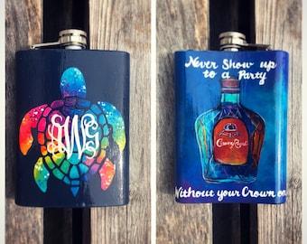 Custom Painted Flasks