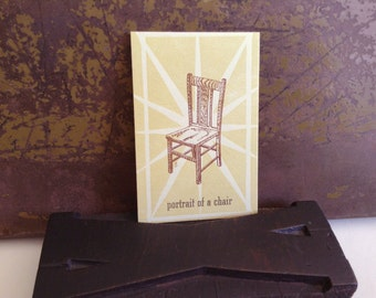 Portrait of a Chair - limited edition hand letterpress printed mini art print