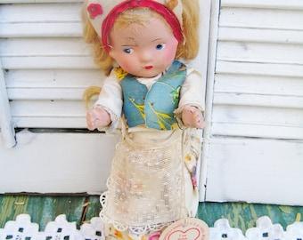 Vintage Czech Composition Doll by Czechoslovak Industrial Art Group Polish