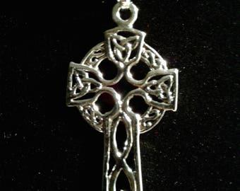 Sterling Silver Celtic Cross Pendant #1326
