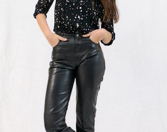 VINTAGE leather pants retro 80's