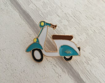 Colourful moped/scooter pin badge