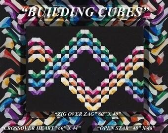 Building Cubes Quilt Pattern Digital File Download