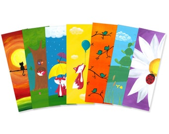 Set of Any 30 Forest Friend Bookmarks - Bulk Party Favors