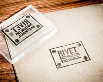 2 Custom Acrylic Rubber Stamp - 1 x .5 inches