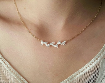 Delicate Tatted Lace Vine Necklace