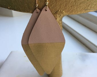 Leather earrings- Savannah
