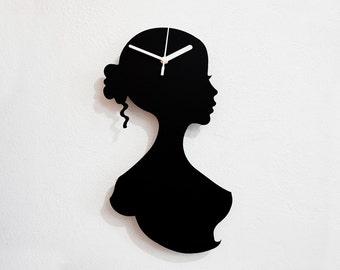 Woman Silhouette - Wall Clock