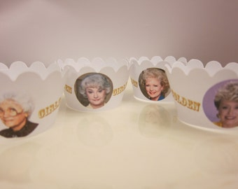 The Golden Girls Cupcake wrappers , Rose, Blanche,Sophia and Dorothy