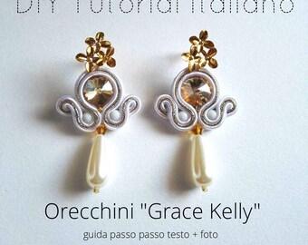"""DIY tutorial italiano orecchini """"GRACE KELLY"""" livello 1"""