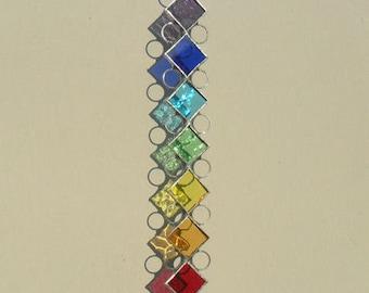 Chakra Suncatcher, Stained Glass Suncatcher