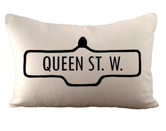 Toronto Street Sign - Personalized Street Name - Cushion Cover - 12x18