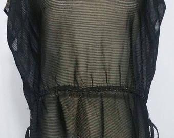 Transparent black blouse