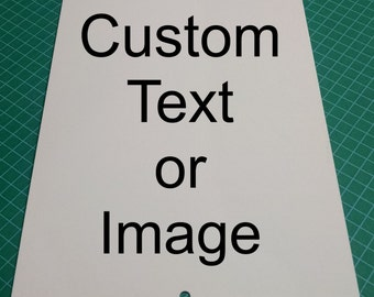 """New Personalized 8"""" x 12"""" Aluminum Metal Sign Customize with Text and/or Picture"""
