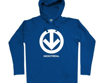 Montreal Metro Hoodie - Men S M L XL 2x 3x - Montreal Hoody Sweatshirt - Quebec, Canada - 4 Colors