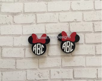 Mouse Ears Monogram Earrings
