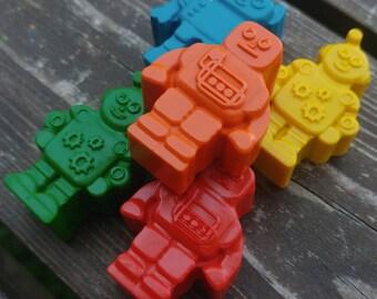 Robot Crayons Set Of 24 - Robot Party Favors - Robot Crayons - Robot Birthday Party Favors - Party Favors - Robot Gift - Crayons - Robots