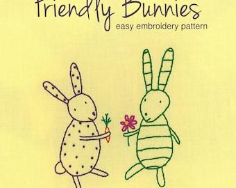 Bunny embroidery pattern PDF