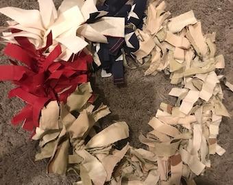 Military fabric strip Wreath