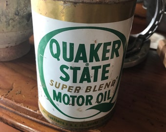 Full Quaker State Oil Can