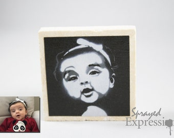 Custom Portrait Magnet, Made to Order
