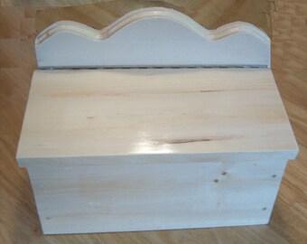 Mailbox natural pine wood varnish glossy 2006D model