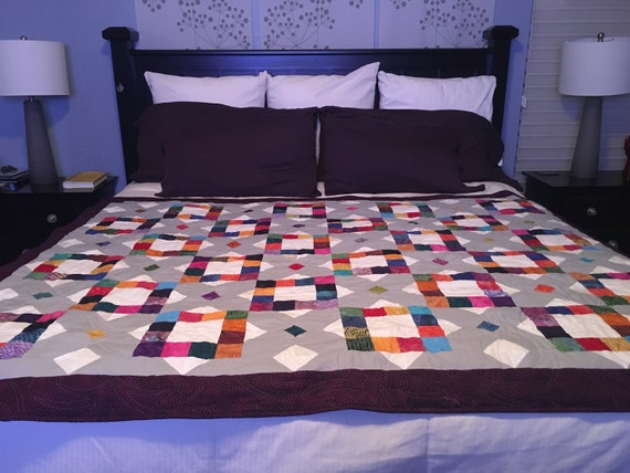 DIAMONDS AND SQUARES - Handmade Quilt