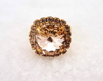 Crystal Stone Gold Ring, Stone Ring, Stone Gold Ring, Crystal Ring, Crystal Gold Ring, Crystal Stone Ring, Stone Crystal Ring, Gold Ring
