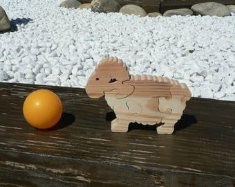 """Sheep"" animal puzzle-cut wood"