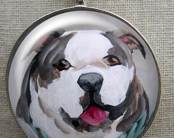 English Bulldog Keychain ~ Bullie Owner Gift ~ Boyfriend Gift ~ Bulldog Portrait ~ Fathers Day Gift ~ Gifts for Him