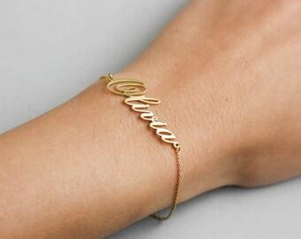 Custom Name Bracelet, Word Bracelet, Dainty Name Bracelet, Name Bracelet, Personalized Bracelet, Custom Name Jewelry, Gift for Mom, SB0181