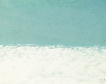 sky, clouds, blue, white, teal, nature, fine art photography
