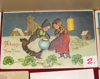 Vintage New Year's  Post Cards Choice 1-10