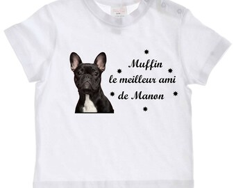 tee shirt baby dog best friend... personalized with name