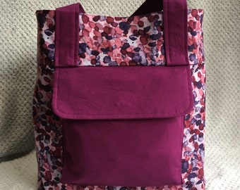 Purple Spotted Tote Bag