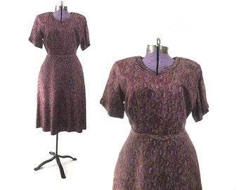 1940s dress large dress 1940s clothing 1940s vintage 40s dress 1940s clothing womens clothing vintage clothing large purple dress