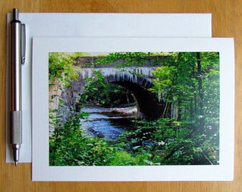 Black Creek Note Card, Photo Note Card, Creek Note Card, Nature Note Card, Stationery, Blank Cards, Pen Pals, Cards with Envelopes, Cards