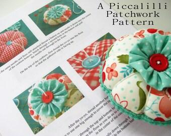 Pincushion Pattern Tutorial - PDF INSTANT DOWNLOAD - YoYo Flower Design