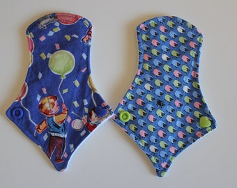 "set of two 6"" thong liners - kitschy kids & tiny sheep"