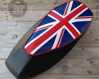 Vespa GTS 125 / 250 / 300 Union Jack British Flag Scooter Seat Cover by Cheeky Seats