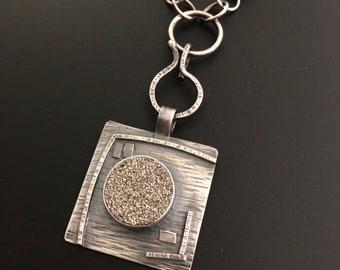 Removeable Druzy Pendant Necklace