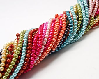 3mm Glass Pearl Mix - 400 beads