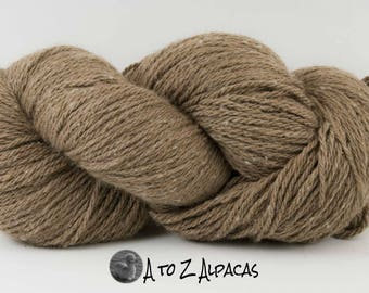 SUPER-SIZED SKEIN! Royal Baby Alpaca Yarn Aran Weight Natural Fawn Large 200 gram skein