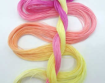 "Size 50 ""Peace"" hand dyed tatting thread 6 cord cordonnet crochet cotton"