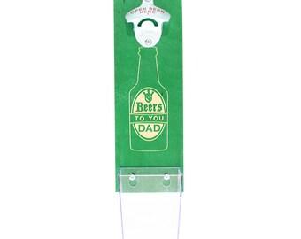Beers To You Dad Baltic Birch Wood Beer Catcher