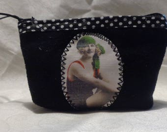Coin purse or small make up pouch portrait