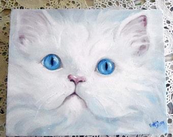 Cat Painting Custom Portrait, Pet Portraits, Custom Portrait Paintings