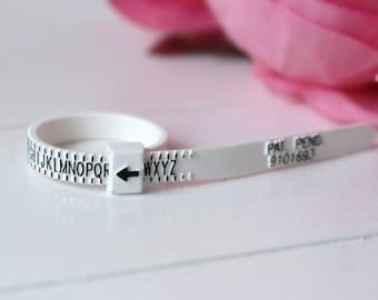 UK ring sizer, ring sizing gauge, reusable ring sizer