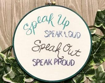 ACLU donation! - Speak Up - Activism - Freedom of Speech - Craftivism - Anti-Trump Art