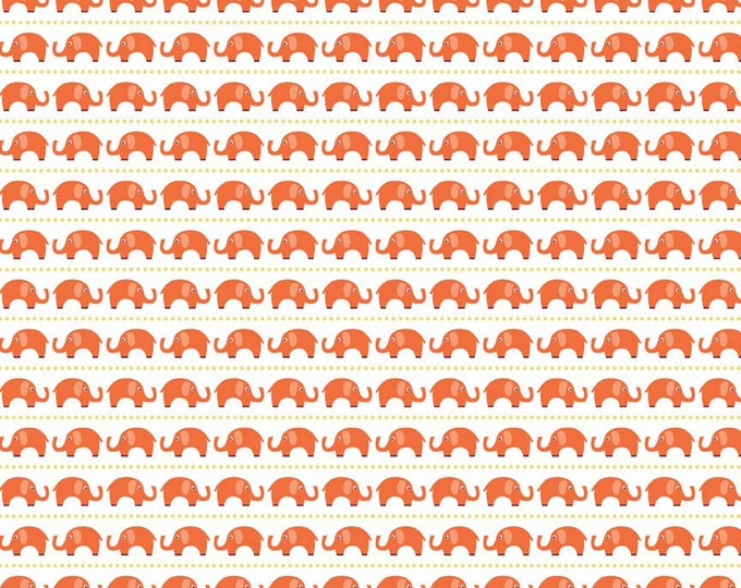 Jersey Fabric, Jersey Knit fabric, Stretch KNIT fabric, Orange fabric, Legging fabric, Stretch fabric- Elephant fabric in Orange